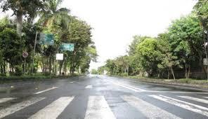 Suasana di jalan raya saat Nyepi
